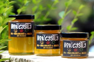 Honig in drei verschiedenen Größen